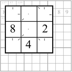 Sudoku: Pencilmarks - clockwise markings